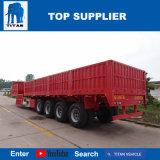 Rimorchio della parete laterale degli assi del titano 4 semi con il camion di trasporto 60ton