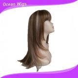 더 긴 머리 혼합 색깔 합성 머리 가발
