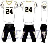 卸売は青年アメリカン・フットボールのユニフォーム/トラのフットボールジャージーをカスタム設計する