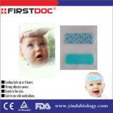 Venta caliente fiebre reduciendo el mentol Gel refrigeración parches para el bebé