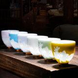 Tazza di tè di ceramica glassata della decalcomania dell'insieme di tè della tazza di tè della porcellana