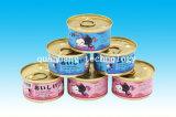 Собак и кошек различных вкусов консервированных продуктов питания ПЭТ в масляной ванне