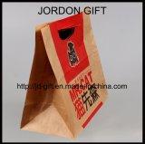 Take-out Brown Sac en papier kraft pour aliments pour animaux familiers, pourrait avec impression personnalisée et la taille, MOQ 500