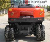 Position des excavatrices 8ton/0.4m3 de roue de machines de construction de la Chine Baoding