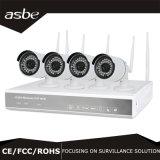 câmara de vigilância sem fio do CCTV do jogo da bala NVR do IP de 4CH 720p para a HOME