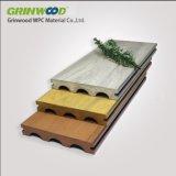 Decking mélangé composé en plastique en bois de couleur de vente chaude
