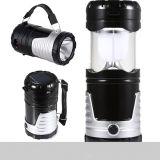 Lanterna di campeggio del Portable 6+1 LED Lamp&Rechargeable con solare