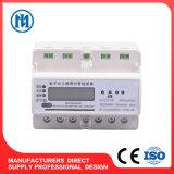 3 счетчика энергии AC Kwh рельса DIN 3 участка электронных