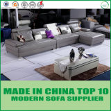 Ultimo strato superiore italiano moderno del sofà del cuoio genuino del grano