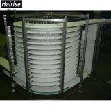 De verticale Modulaire Spiraalvormige Transportband van de Riem van de Rang van het Voedsel Koel