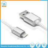 5V/2.1A 1m de longitud relámpago cargador de teléfono USB cable de datos