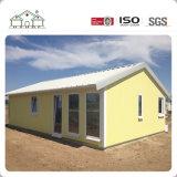 Casa de acero de la casa prefabricada de la tarjeta del cemento de la fibra de la luz del bajo costo