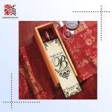 Caisse d'emballage en bois faite sur commande de vin rouge à vendre