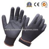 冷たい抵抗力がある二重浸されたサンディのニトリルの冬作業手袋