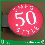 Signes extérieurs de cadre léger de DEL pour le système (logo)