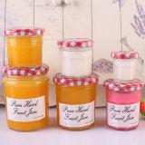 100ml 240ml 350ml 500ml 750ml de miel vide pot de verre rondes Jam Jar avec couvercle de métal, verre bouteille d'emballage de vente en gros