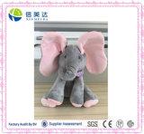 재미있은 살아움직이는듯한 Flapping 귀 코끼리 견면 벨벳 아기 장난감