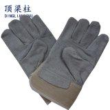 Перчатки серых коротких перчаток Cowhide безопасности заварки кожаный работая