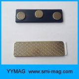 Значок пластичной нагрудной планки с фамилией участника крышки магнитный
