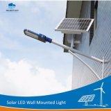 luz ao ar livre da rua solar fixada na parede solar da lâmpada do diodo emissor de luz 12With15W