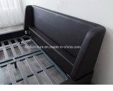 Base moderna del cuoio della camera da letto dell'arredamento della Doubai con il blocco per grafici di legno