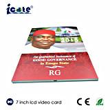 사업을%s 7 인치 OEM 영상 브로셔 LCD 비디오 카드