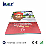 Brochura de OEM de vídeo de 7 polegadas LCD com placa de vídeo para empresas