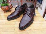 Italienische Mens-Leder-Schwarz-Kleid-Schuhe für Geschäftslokal