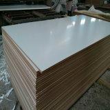 MDF Melamina blanca cálida, MDF, ambos lados del papel de melamina, tamaño 1220x2440, E1 la cola, Color: blanco cálido, la densidad: 720kg., Espesor: 1.9-25mm