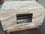 La fantasía de granito marrón de baldosas pulidas losas&+encimera