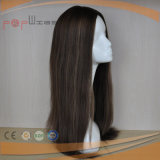 Peluca superior de seda de calidad superior del pelo de la Virgen (PPG-l-0593)