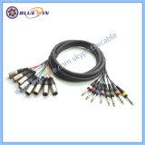 8 het Mannetje van het kanaal XLR aan de Vrouwelijke AudioKabel van het Weefgetouw, de Evenwichtige Kabel van de Slang