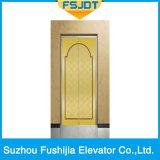 Ascenseur commercial de maison de passager de construction avec l'acier inoxydable d'or de Rose