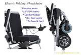 """10 """" LiFePO4電池が付いている携帯用軽量のブラシレス折りたたみの電動車椅子"""