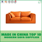 Orange Chesterfield-ledernes Sofa-Set