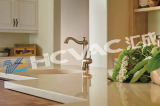 Het goud plateerde Sanitaire Tapkranen/het Systeem van de VacuümDeklaag van Brassware PVD