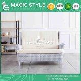 Sofà di vimini esterno impostato con il vimine di vimini del sofà del giardino del sofà del rattan 2-Seat dell'ammortizzatore che tesse il singolo sofà del vimine di svago del sofà