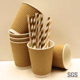 cuvette de café remplaçable de papier de mur de 8oz 12oz 16oz double