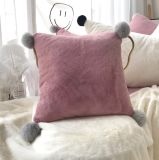 أرنب مخمل قلب شكل نجم تاج قمر وسادة ليّنة فاتن أريكة [لومبر] وسادة