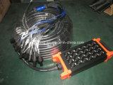 Audiokanaal van uitstekende kwaliteit 50m van 16/24/32 de Kleur Gecodeerde Kabel van de Slang XLR (Winst TRS) verzendt met 4 Winst