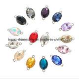 2018 naaien de Populaire Buitensporige Ovale 10*14mm Losse Juwelen van het Kristal op de Toebehoren van de Parels van het Bergkristal voor Kleding