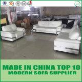 Jeu blanc de sofa de cuir véritable de meubles modernes de Home Office