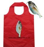 Bolso promocional de las compras plegables, estilo animal de los pescados, reutilizable, regalos