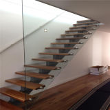 Longerons d'escalier/balustrade en verre en verre de balcon