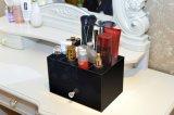 Haltbares preiswertes schwarzes Farben-Lippenstift-Zahnstangen-Pinsel-Halter-Acryl-Fach