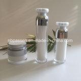 化粧品の包装のための銀製のアクリルのクリーム色の瓶の空気のないびん(PPC-NEW-170)