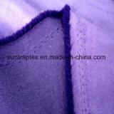 Tessuto molle della pelle scamosciata del poliestere 150d con ambientale tinto per il sofà