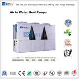 A água do ar de bombas de calor para aquecimento e refrigeração comercial