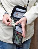 Обеспеченность перемещения под бумажником шеи мешка пасспорта деньг одежд