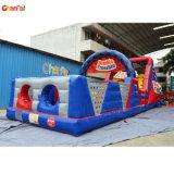 Inflable gigante de la carrera de obstáculos a los niños túnel obstáculo inflables